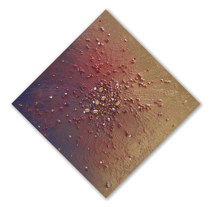 tecnica mista su tela - f.to cm. 120x120